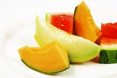 Watermeloen en meloen Stock Afbeeldingen
