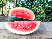 Watermeloen en plak Royalty-vrije Stock Foto's