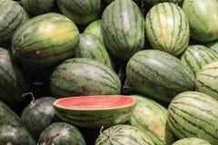 Watermeloen en scherp fruit Royalty-vrije Stock Afbeelding