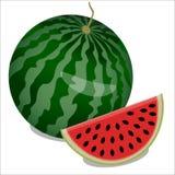 Watermeloen en stuk van watermeloen Stock Afbeeldingen