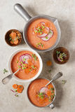 Watermeloen en Tomaat Gazpacho Royalty-vrije Stock Fotografie