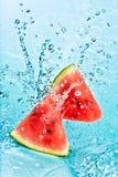 Watermeloen en water Royalty-vrije Stock Afbeeldingen