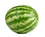 Watermeloen en waterdalingen op witte achtergrond Royalty-vrije Stock Afbeelding
