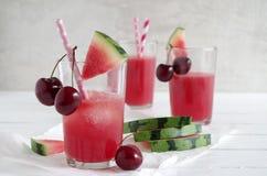 Watermeloen-kers smoothie Royalty-vrije Stock Fotografie
