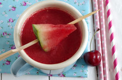 Watermeloen-kers smoothie Stock Foto