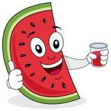 Watermeloen met een Vers Gedrukt Sap Royalty-vrije Stock Foto