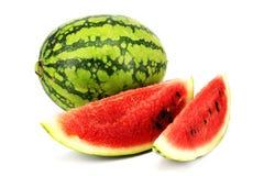 Watermeloen met plakken Royalty-vrije Stock Afbeelding