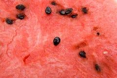 Watermeloen met zadenAchtergrond Stock Afbeelding