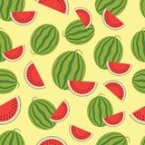Watermeloen naadloze achtergrond. Stock Afbeelding