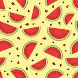 Watermeloen naadloze achtergrond. Royalty-vrije Stock Afbeelding