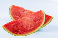 Watermeloen op een wit stock fotografie