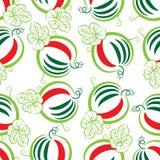Watermeloen op een witte achtergrond stock illustratie