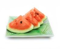 Watermeloen op plaat Royalty-vrije Stock Foto