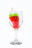 Watermeloen op smaak gebrachte ijslollystokken Royalty-vrije Stock Afbeeldingen