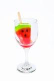 Watermeloen op smaak gebrachte ijslollystokken Royalty-vrije Stock Foto