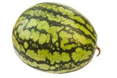 Watermeloen op wit met het knippen van weg wordt geïsoleerd die Royalty-vrije Stock Foto's