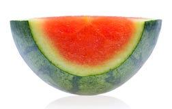 Watermeloen op witte achtergrond Stock Afbeeldingen