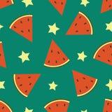 watermeloen Vector naadloos patroon royalty-vrije illustratie