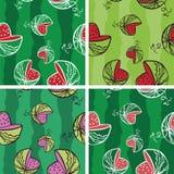 Watermeloen Vector Naadloze Textuur Royalty-vrije Stock Foto