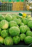 Watermeloenen voor verkoop royalty-vrije stock fotografie