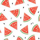 Watermeloenpatroon Vector Illustratie
