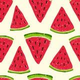 Watermeloenpatroon Stock Afbeelding
