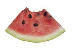Watermeloenplak met beet het missen Royalty-vrije Stock Foto's