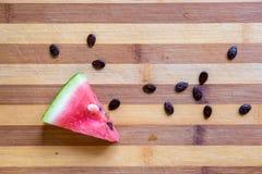 Watermeloenplak met zaden Royalty-vrije Stock Foto