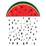 Watermeloenregen stock illustratie
