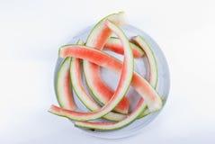 Watermeloenresten Stock Afbeelding