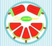 Watermeloenroomijs Royalty-vrije Stock Afbeelding