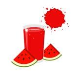 Watermeloensap en Plakken Stock Foto