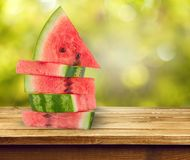 Watermeloenstapel stock foto's