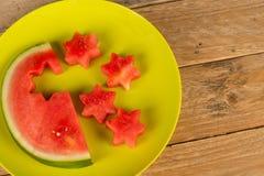 Watermeloensterren royalty-vrije stock foto