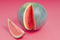 Watermelon. Studio shot of cuted watermelon on pink background Stock Images