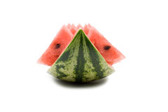 Watermelon. Watermelon on a white background stock images