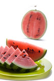 Watermelon. Watermelon on a white background Royalty Free Stock Photography