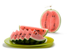 Watermelon. Watermelon on a white background royalty free stock photo