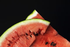Watermelon. On the black background Royalty Free Stock Photography
