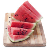 Watermelon. Juicy slices of ripe watermelon isolated on white background royalty free stock image