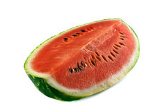 Watermelon. Piece of watermelon isolated on white royalty free stock photo