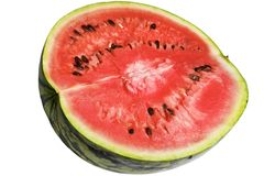 Watermelon. Half of watermelon, isolated on white Stock Photo