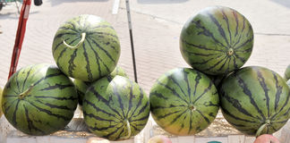 Watermelon. Summer, watermelon is people thirst quencher but also to the natural fruit Royalty Free Stock Images