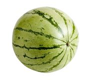 Watermelon. A watermelon on white, this file comes with a clipping path royalty free stock image
