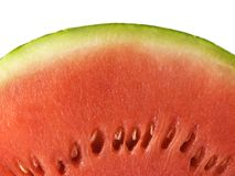 Watermelon. Close-up isolated on a white background Stock Photography