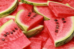 Watermelon. Close-up of fresh slices of red watermelon