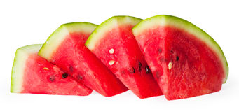 Watermelon. Isolated on white background Stock Photos