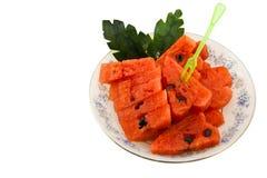 Watermelon. On a white background Stock Photos