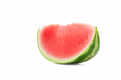 Watermelon. Delicious juicy red watermelon on white background Royalty Free Stock Photos