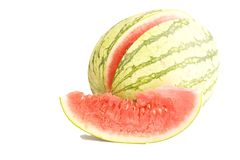 Watermelon. Fresh watermelon on the white Royalty Free Stock Images